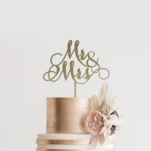 ケーキトッパー<br>【MR&MRS/Emily】