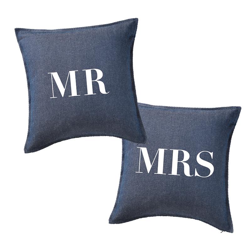 ウェディングクッション【Mr & Mrs/デニム】
