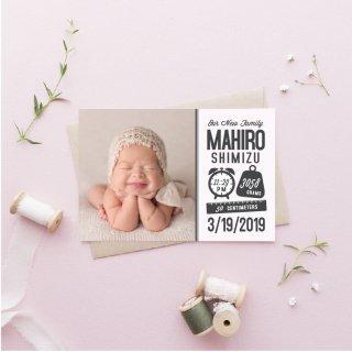 出産報告/内祝いカード<br>【 Design.04 】