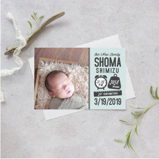 出産報告/内祝いカード<br>【 Design.05 】