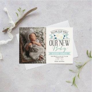 出産報告/内祝いカード<br>【 Design.07 】