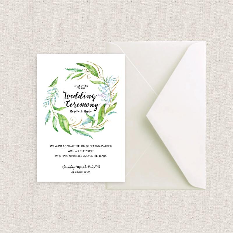 カード型 招待状 Leaf