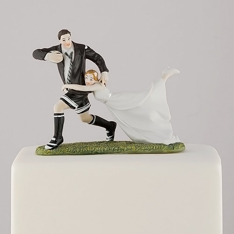 ケーキトッパー<br>【Rugby fun couple/Weddingstar】