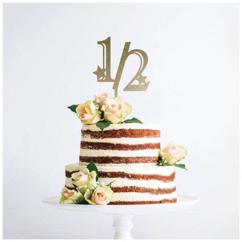 ハーフバースデー 誕生日のケーキトッパー販売 Eym
