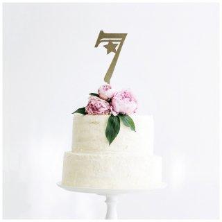 ケーキトッパー<br>【数字7 / Lサイズ】