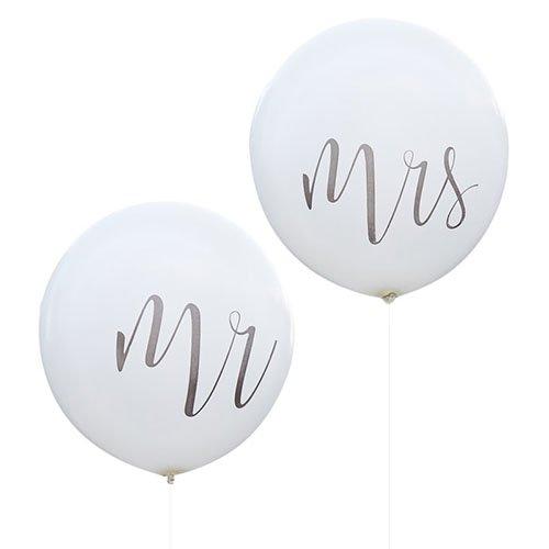 ウェディングバルーン<br>【Mr&Mrsセット】