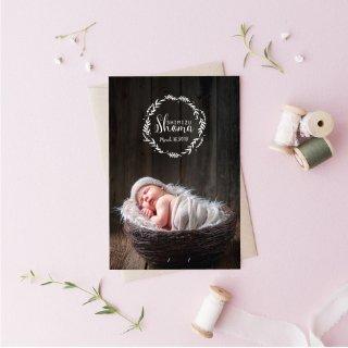 出産報告/内祝いカード<br>【 Design.10 】