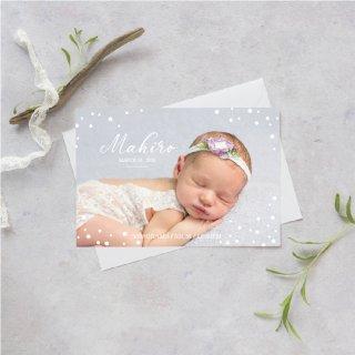 出産報告/内祝いカード<br>【 Design.11 】