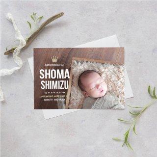 出産報告/内祝いカード<br>【 Design.13 】