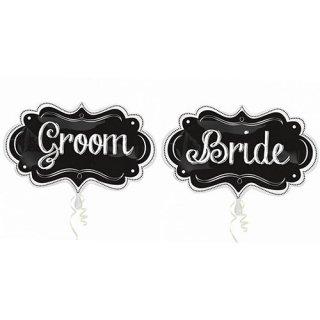 ウェディングバルーン<br>【Groom&Brideセット】