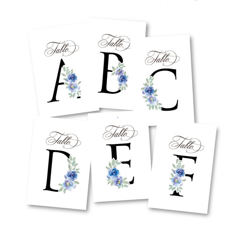 テーブルナンバー<br>【Blue flower】
