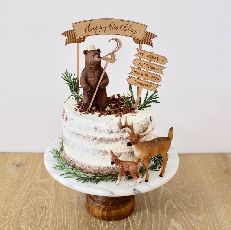 Birthdayケーキトッパー ケーキトッパー3本セット