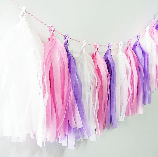タッセルガーランド<br>【Pink×Lavender】