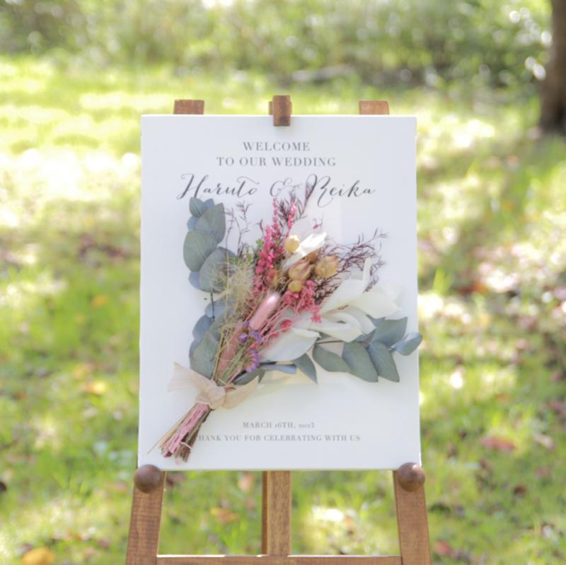キャンバスボード<br>【Dried flowers 1 /Violet Bride】