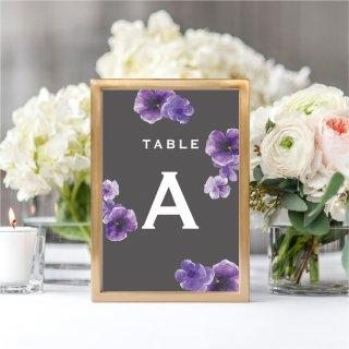 テーブルナンバー<br>【Purple flower / Muguet】