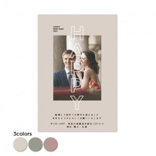 年賀状・結婚報告はがき<br>【 Gothic 】