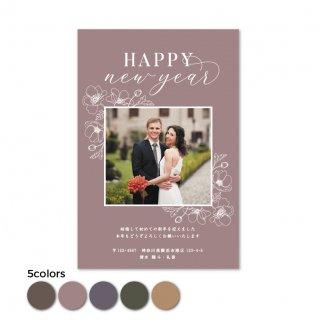 年賀状・結婚報告はがき<br>【 Rose 】