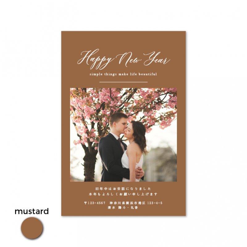 年賀状・結婚報告はがき<br>【 Simple 】