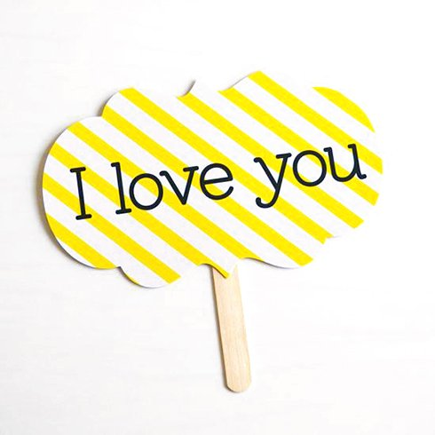 フォトプロップス<br>【I love you/I know】
