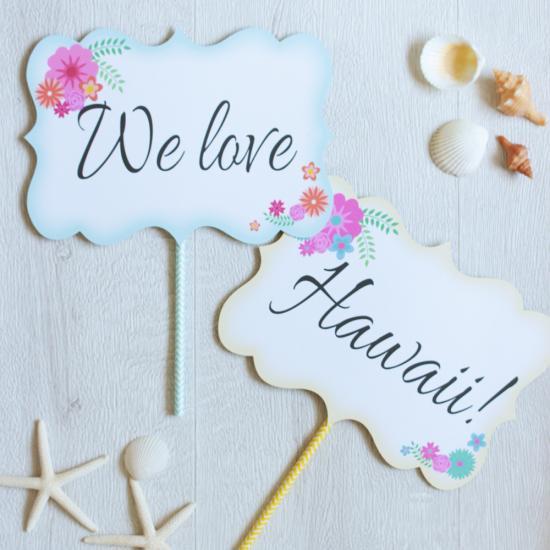 ハネムーンプロップス【We love Hawaii !!】