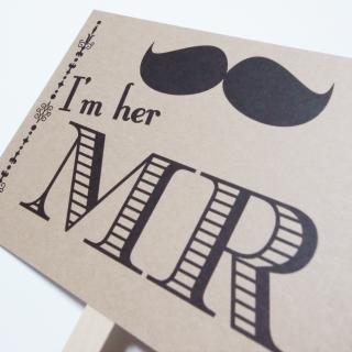 フォトプロップス<br>【MR&MRS/髭&唇】