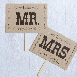 フォトプロップス<br>【MR&MRS/飾り曲線】