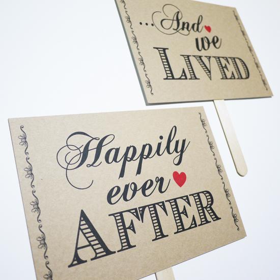フォトプロップス<br>【Happily ever after】