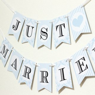 ガーランド<br>【 JUST MARRIED/blue damask 】