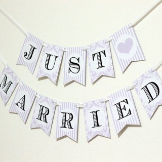 ガーランド<br>【 JUST MARRIED/purple damask 】
