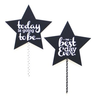 フォトプロップス<br>【Best day ever/black Star】