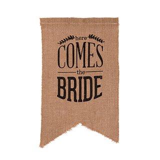 ウェディングサイン<br>【Here Comes The Bride/black】
