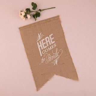 ウェディングサイン<br>【Here Comes The Bride/white】