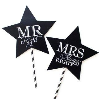 フォトプロップス<br>【Mr & Mrs/Blackboard star】