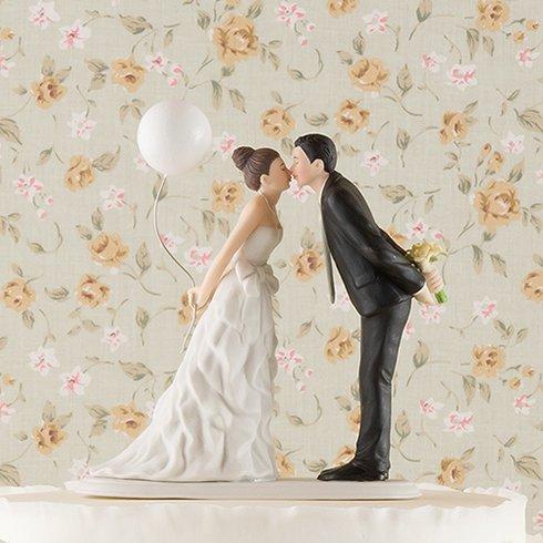 ケーキトッパー<br>【バルーン・キス/Weddingstar】