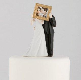 ケーキトッパー<br>【フォトフレーム/Weddingstar】