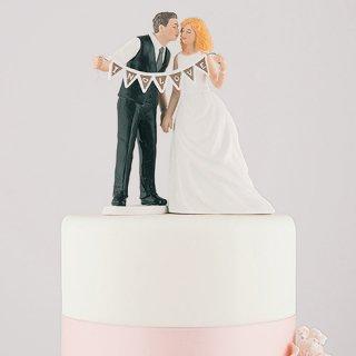 ケーキトッパー<br>【シャビーシックガーランド/Weddingstar】