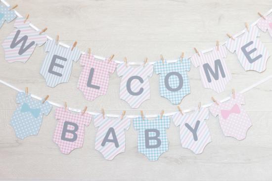ガーランド<br>【WELCOME BABYセット/ロンパース】