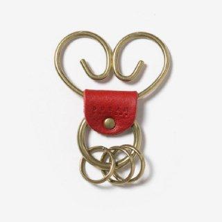 真鍮のクリップ付きキーホルダー | DURAM くるくるキーホルダー 13020