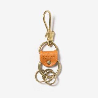 真鍮のフック付きキーホルダー | DURAM フックキーホルダー 13019