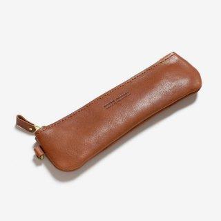 ナチュラルな革のスリムなペンケース | DURAM ファスナーペンケースフラット 18010