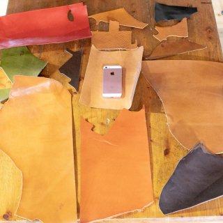 タンニンなめしの革のハギレ