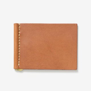 カードも入る手縫いのマネークリップ | DURAM カードポケット付きマネークリップ 9017