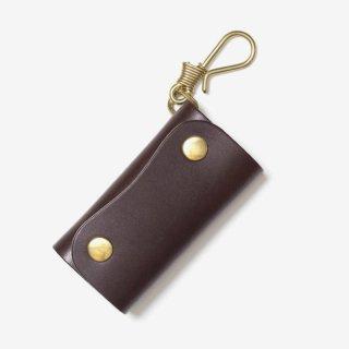 真鍮無垢のフックを使ったナチュラルな革のキーケース | DURAM フック付きキーケース 9031