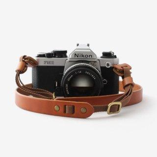 分厚い革のシンプルなカメラストラップ | DURAM カメラストラップA 10015(B)