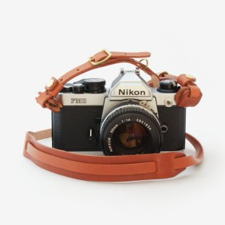 ナチュラルな革のコンパクトなカメラストラップ | DURAM カメラストラップG 14020