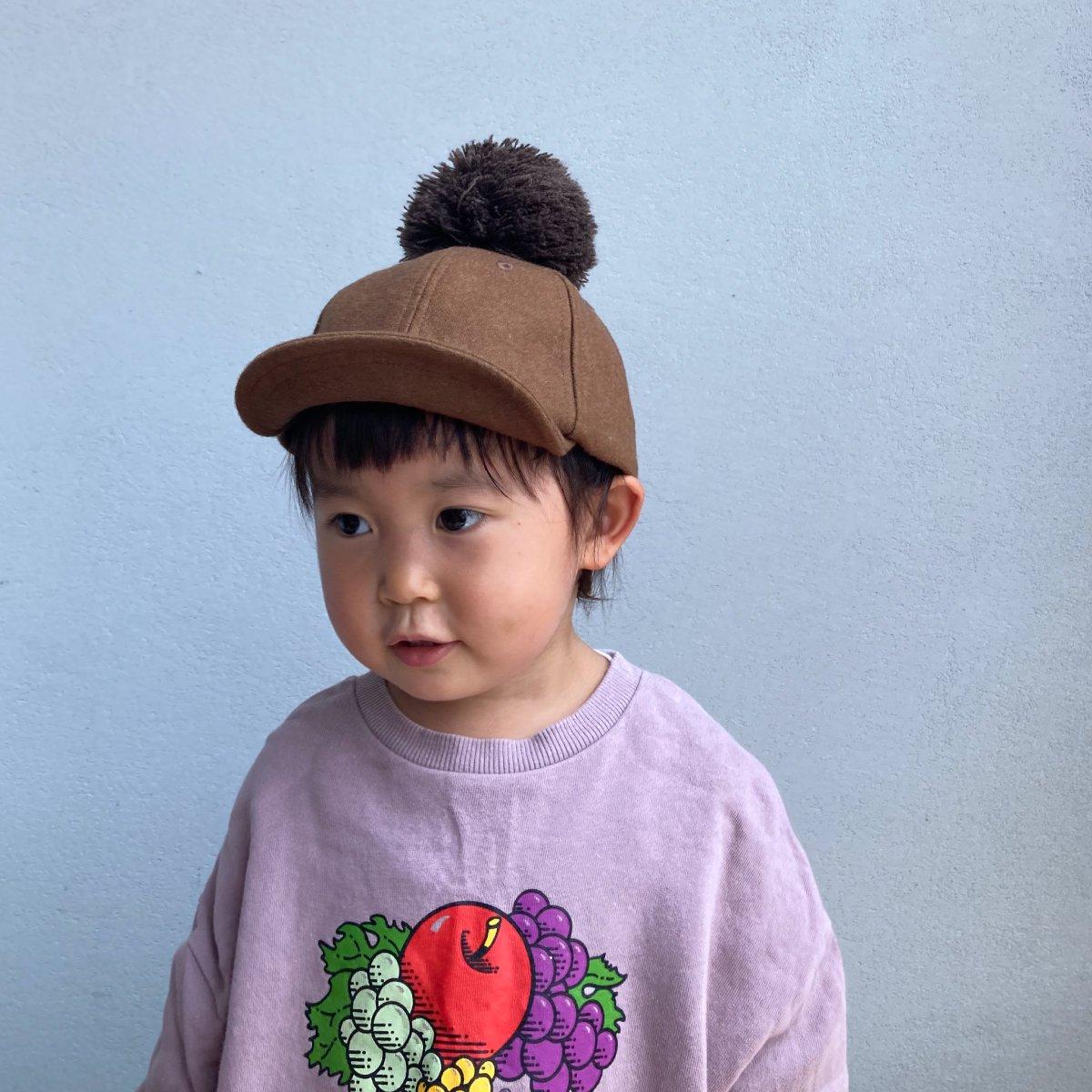 【KIDS】Wool Pom Cap 2 詳細画像10