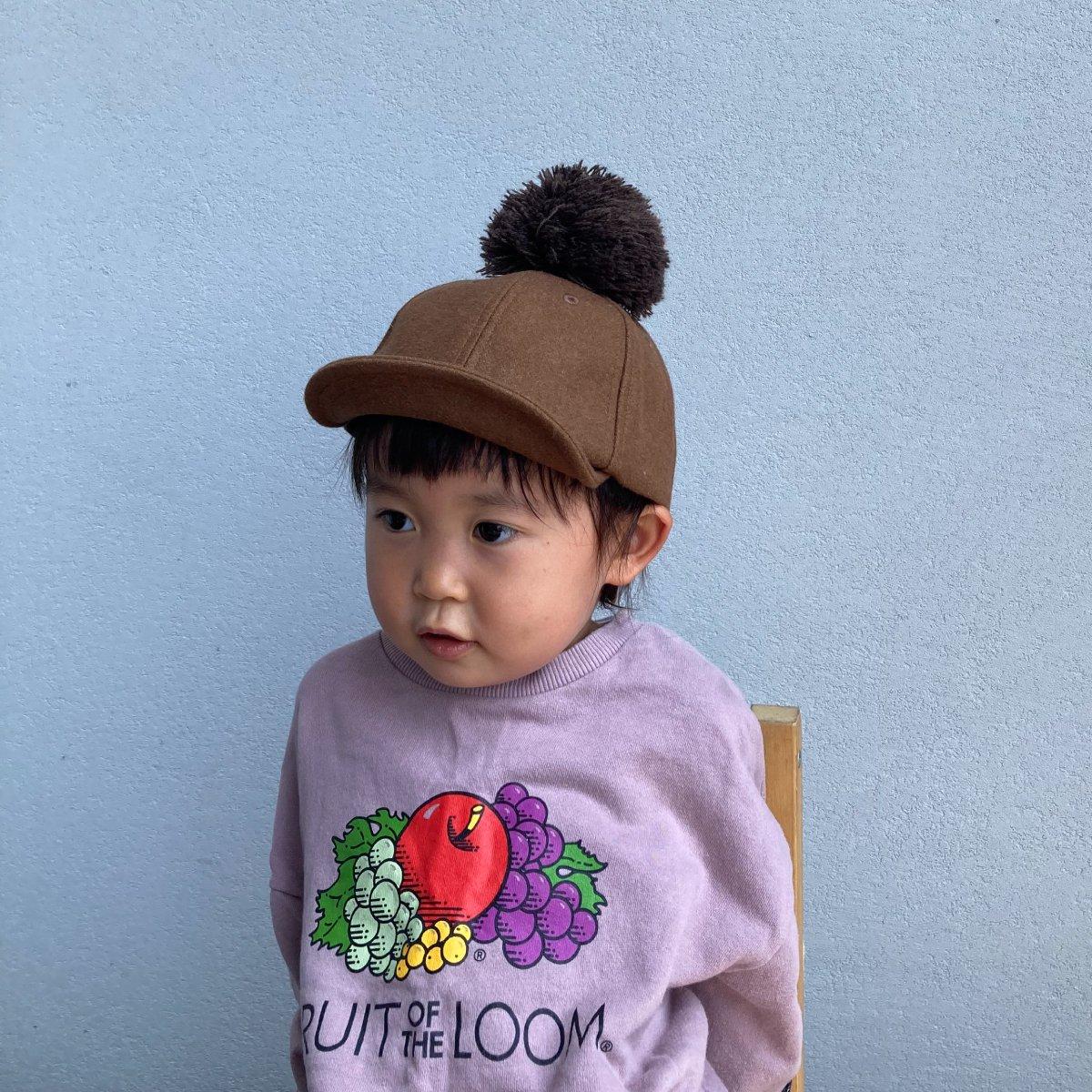 【KIDS】Wool Pom Cap 2 詳細画像11