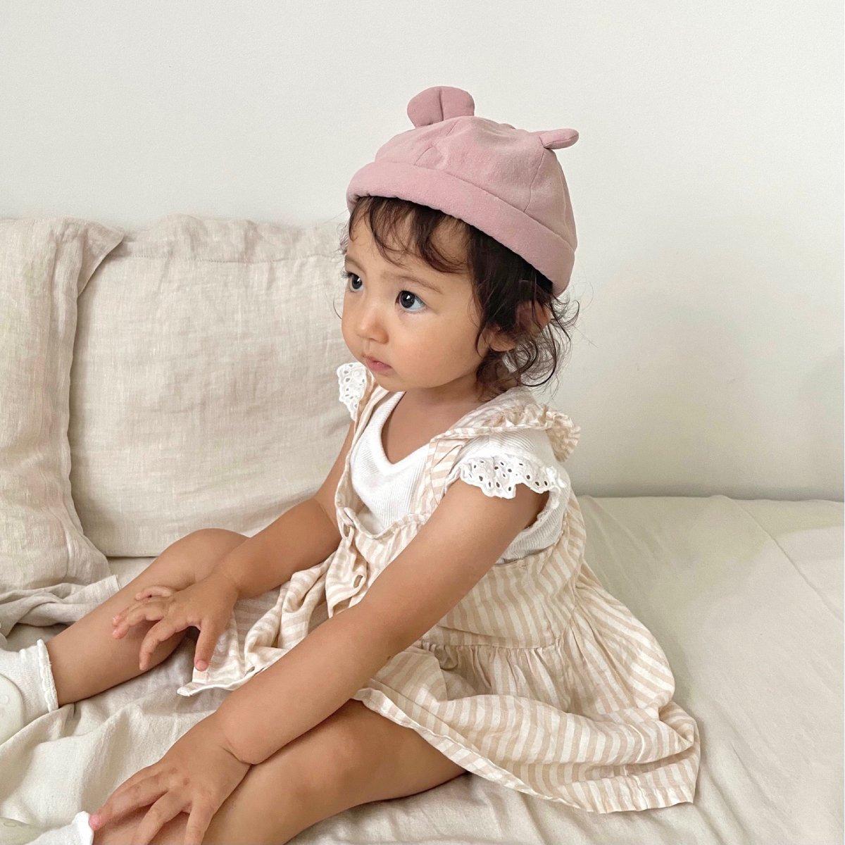 【BABY】Baby Linen Bear Cap 詳細画像17