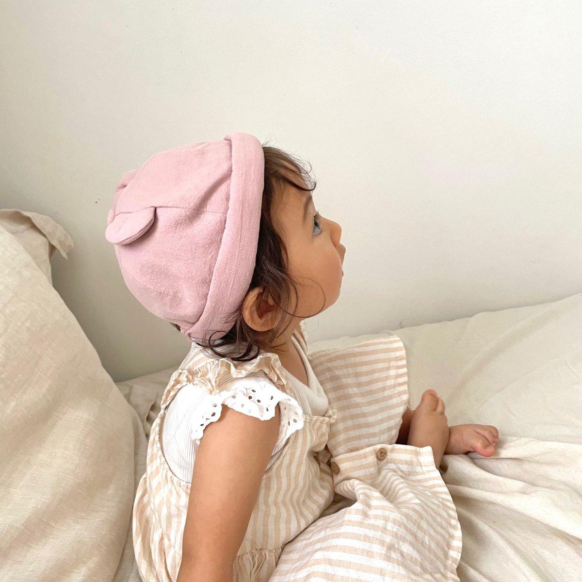 【BABY】Baby Linen Bear Cap 詳細画像18