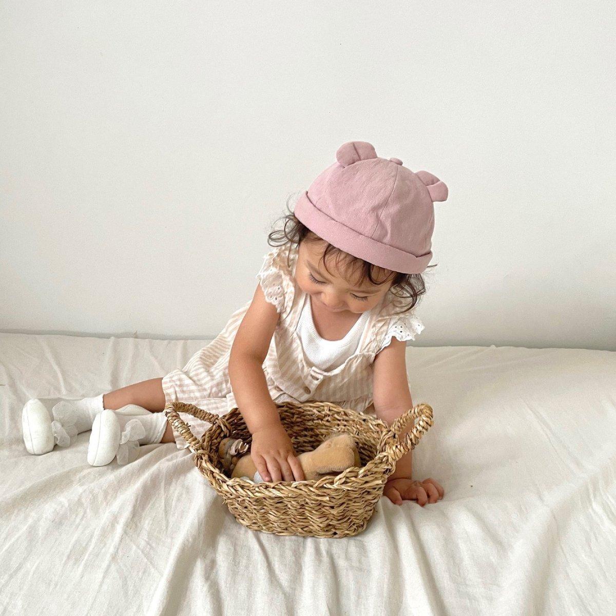 【BABY】Baby Linen Bear Cap 詳細画像20